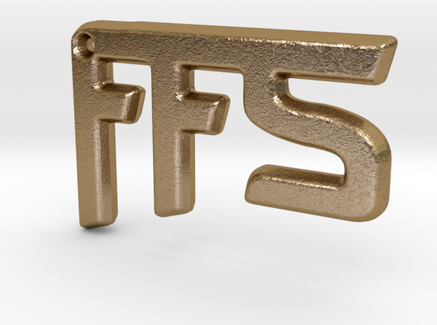FFS! Pendant in Polished Gold Steel