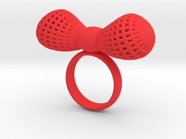 Bowtie ring in Red Strong & Flexible Polished: 7 / 54