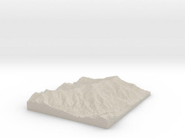 Model of Commissary Ridge in Natural Sandstone