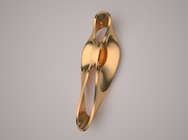 Triple Cube Brass 049 in Polished Brass