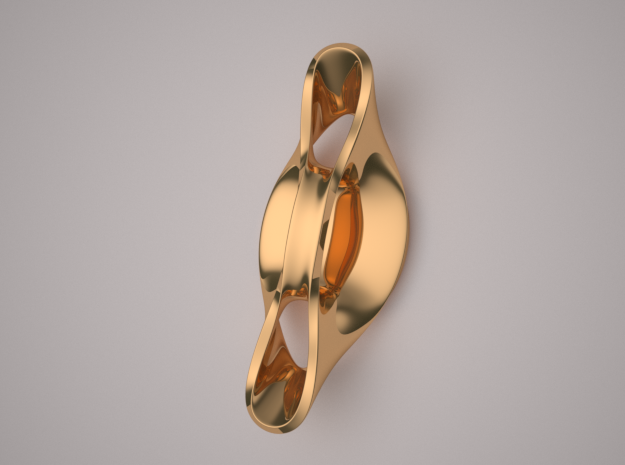 Triple Cube Brass 055 in Polished Brass