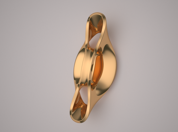 Triple Cube Brass 056 in Polished Brass