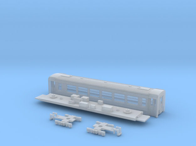 Passenger car type B-3S w/bogie in Smooth Fine Detail Plastic