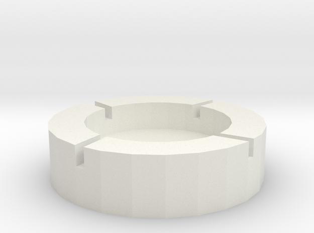 菸灰缸.stl in White Strong & Flexible: Small