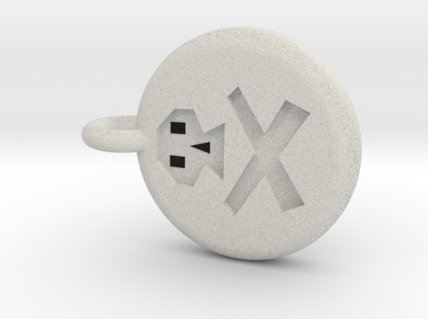 Runescape: Death Rune Keychain in Full Color Sandstone