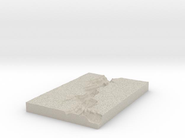 Model of Sinyella Spring in Natural Sandstone