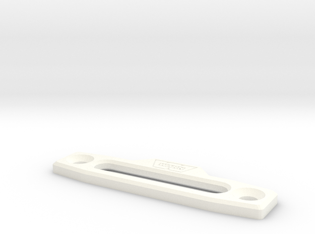 Warn hawse fairlead D90 1:10 in White Strong & Flexible Polished