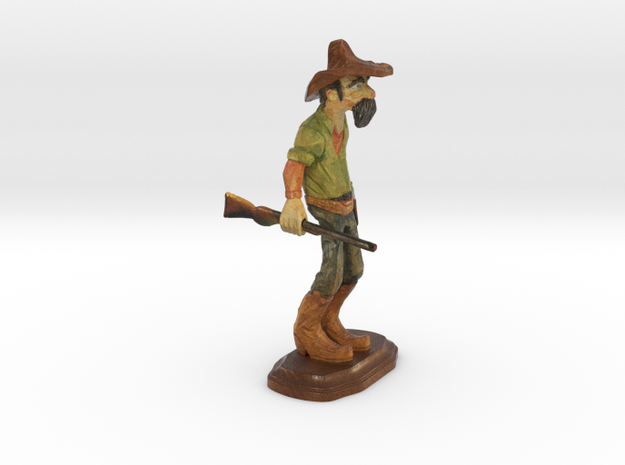 Cowboy Color 3d Printing.20161213-1313 in Full Color Sandstone