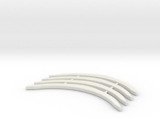 Renfort McLaren 12C MiniZ 4pc in White Strong & Flexible