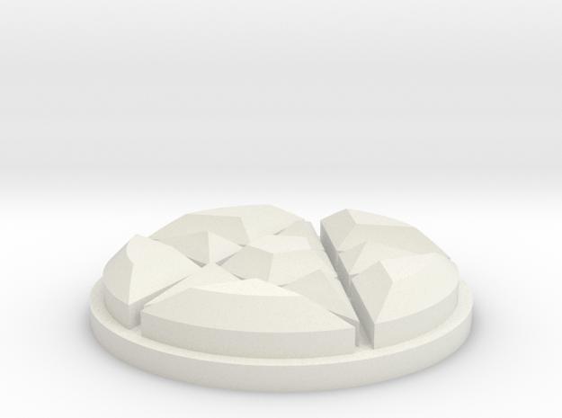 Dresden Jewel in White Natural Versatile Plastic