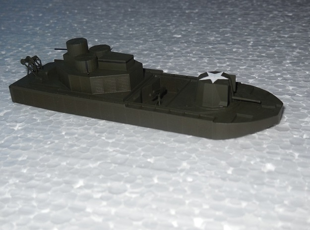 1:144 scale Vietnam Riverine Monitor 3d printed example