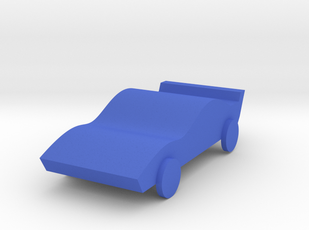 Sport Car in Blue Strong & Flexible Polished: Medium
