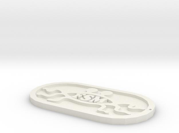 fsm keychains in White Natural Versatile Plastic