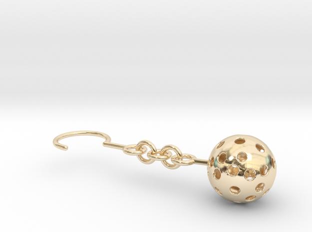 Moon Earrings in 14K Yellow Gold