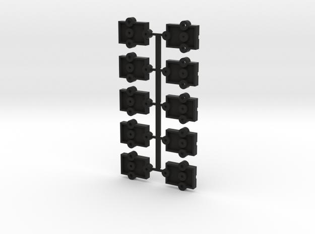 Lionel O Scale Steel Reefer Coupler Mount in Black Natural Versatile Plastic