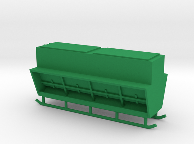 1/64 Creep Feeder on Rails in Green Processed Versatile Plastic