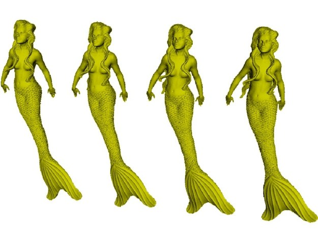 1/72 scale mermaid swimming figures x 4