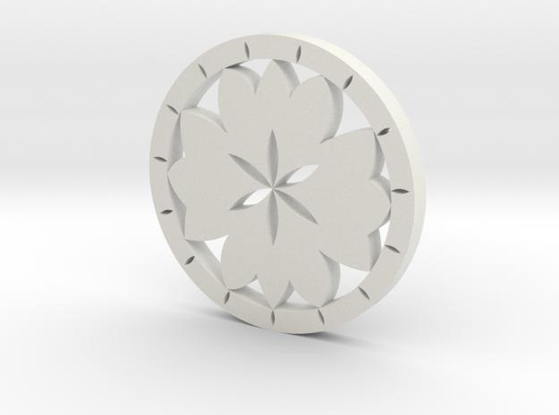 Lotus earring in White Strong & Flexible