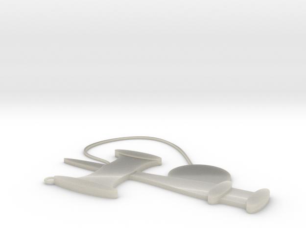 Kendama strap in White Acrylic