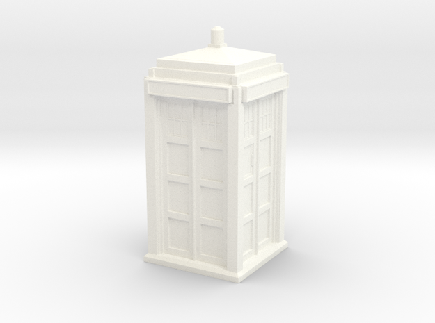 The Physician's Blue Box in 1/32 scale (Hollow) in White Processed Versatile Plastic