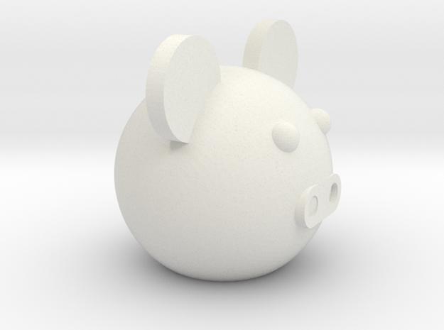 Round ball pig in White Natural Versatile Plastic