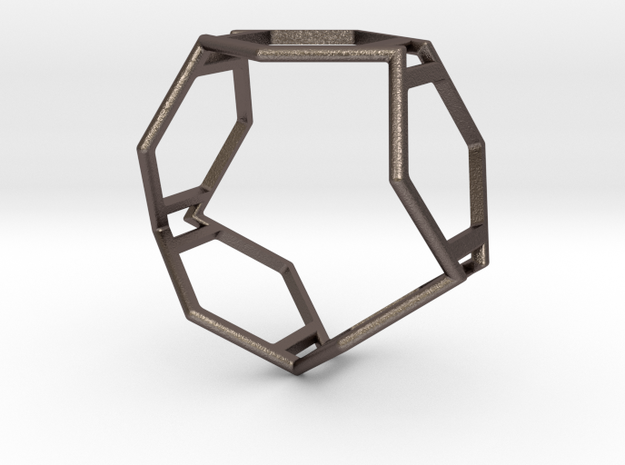 5hex redux in Polished Bronzed Silver Steel