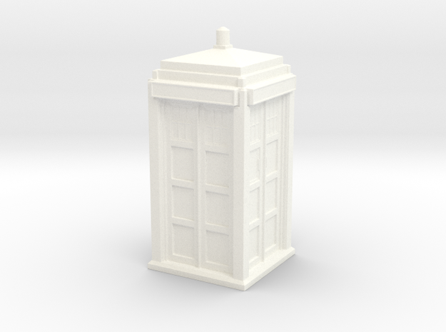 The Physician's Blue Box in 1/72 scale (complete) in White Processed Versatile Plastic