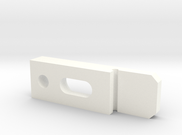 Platen in White Strong & Flexible Polished: 1:10