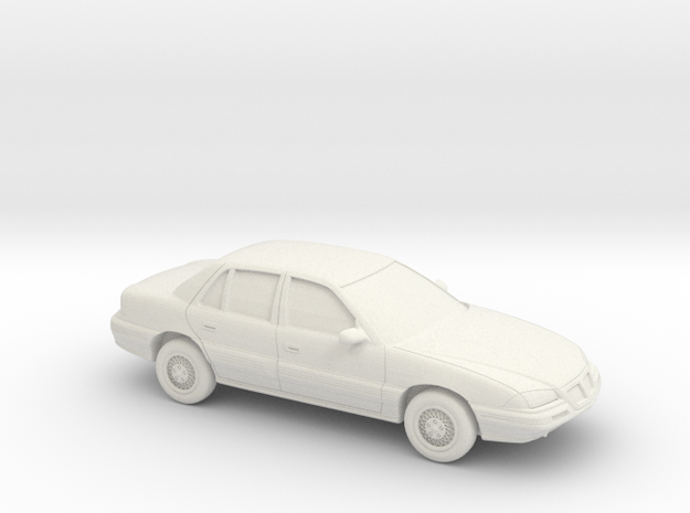 1/43 1992-95 Pontiac Grand Am in White Strong & Flexible