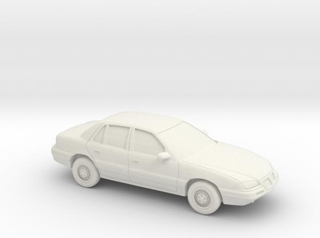 1/43 1992-95 Pontiac Grand Am in White Natural Versatile Plastic