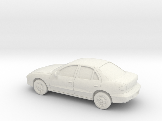 1/43 1995-99 Pontiac Sunfire in White Natural Versatile Plastic