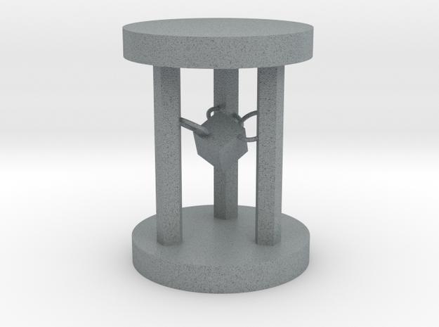 Hourglass table lamp in Polished Metallic Plastic