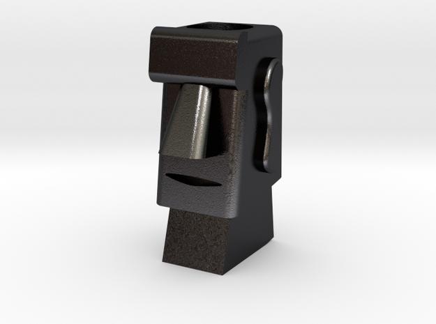 Hplder in Polished and Bronzed Black Steel