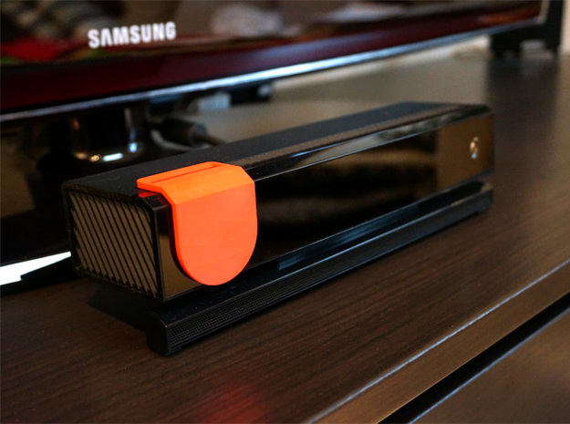 Kinect Cover Pro 3d printed Coral Red Strong & Flexible Polished - blocking camera