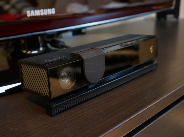 Kinect Cover Pro 3d printed Black Strong & Flexible - moved off of camera