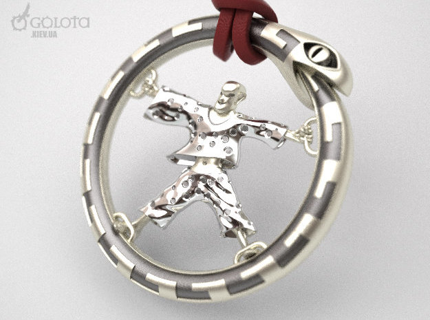 WestWorld CrazyBot pendant in Natural Silver