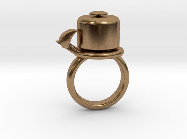 BIKE BELL RING - SIZE 6 in Raw Brass