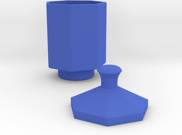 Cup in Blue Strong & Flexible Polished
