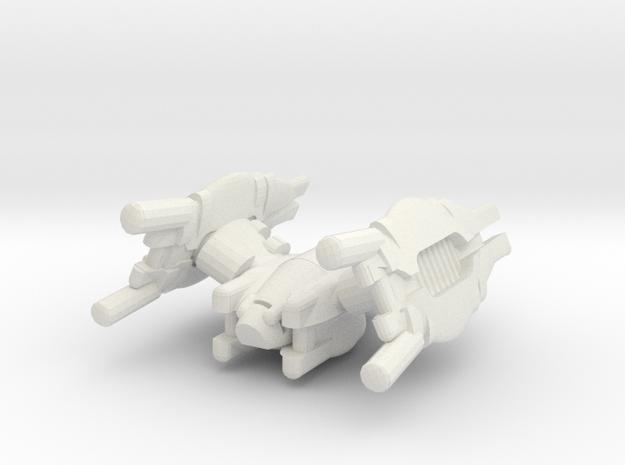 REGENT-T1-50mm in White Strong & Flexible