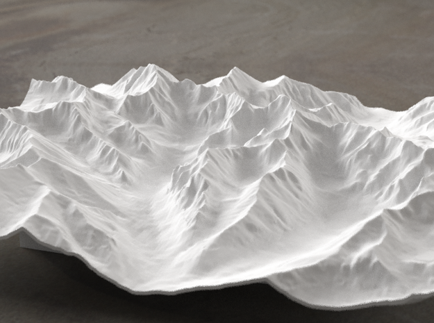 8''/20cm High Tatras, Poland/Slovakia, WSF in White Natural Versatile Plastic