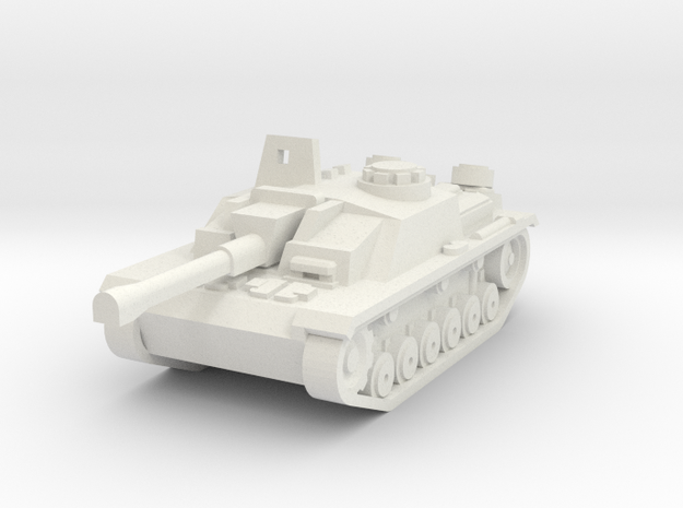 Stug III in White Natural Versatile Plastic
