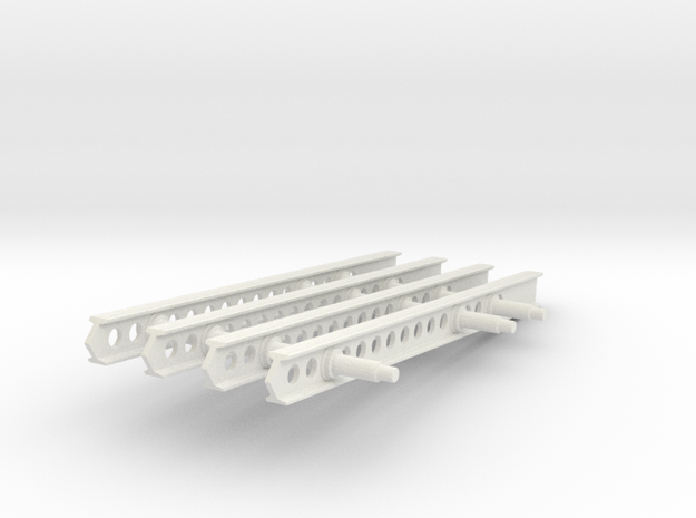 24-M-8 Katyusha Launcher Mid Rails Scale 1:35 in White Natural Versatile Plastic