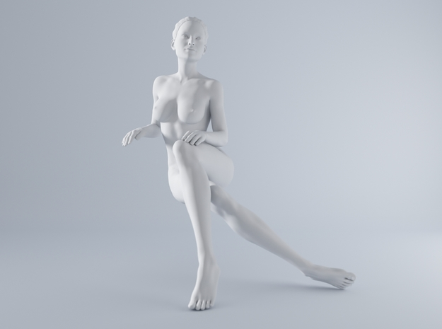 Mini Sexy Woman 021 1/64 in Smooth Fine Detail Plastic: 1:64 - S