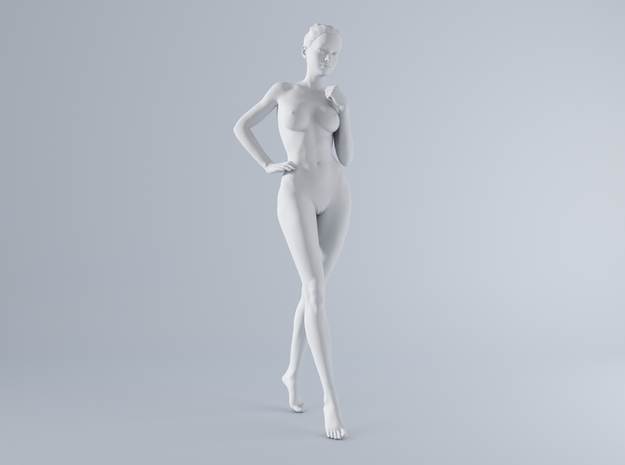 Mini Sexy Woman 027 1/64 in Smooth Fine Detail Plastic: 1:64 - S