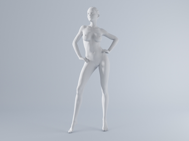 Mini Sexy Woman 032 1/64 in Smooth Fine Detail Plastic: 1:64 - S