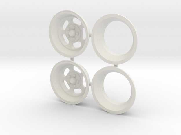 Ansen Slot 1/18 in White Natural Versatile Plastic
