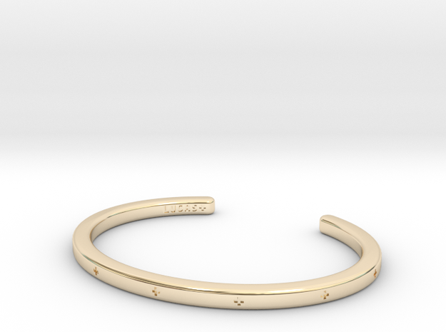 Plus Cuff  in 14k Gold Plated: Small