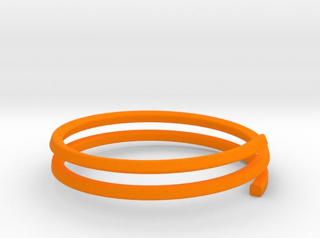 Bracelet GH X Large in Orange Processed Versatile Plastic