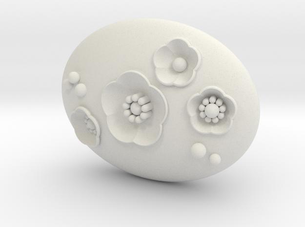 S46 Cherry Blossom Pendant East-West 46mm in White Natural Versatile Plastic