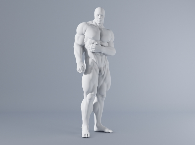 Mini Strong Man 1/64 010 in Smooth Fine Detail Plastic: 1:64 - S